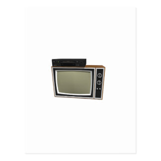 80's Style TV and VCR: 3D Model Postcard