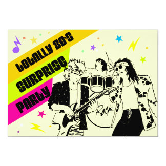 80's Surprise Party 5x7 Paper Invitation Card