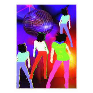 80s themed party invitation 80s disco fluorescent