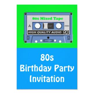 80s themed party invitation 80s mixed tape