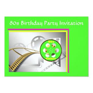80s themed party invitation 80s movies fluoro