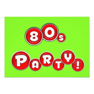 80s themed party invitation 80s retro fluorescent