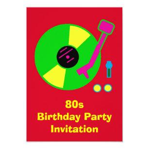 back to the 80s invitations zazzle