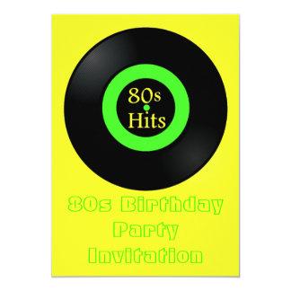 80s themed party invitation 80s retro vinyl album