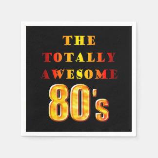 80s totalmente impresionante servilletas desechables