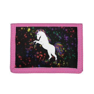 80s unicorn tri-fold wallets