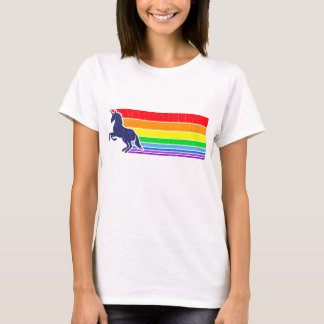 '80s Vintage Unicorn Rainbow (distressed look) T-Shirt