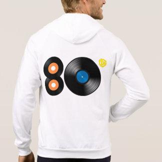 80's Vinyl Record Zip Up Hoodie