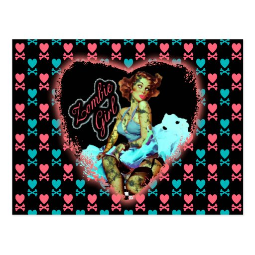 80'S Zombie Girl Post Cards
