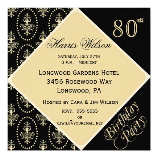 Zazzle 80th Birthday Invitations   Party Invitations Ideas