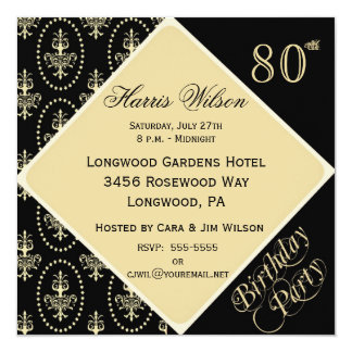 80th-89th Birthday Invitations