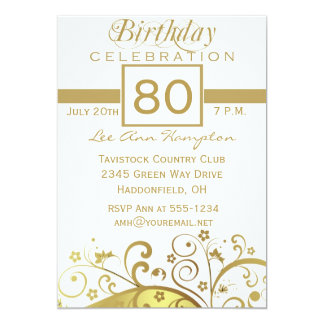 80th - 89th Birthday Party Invitations