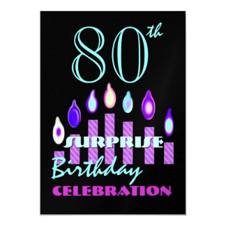 80th - 89th SURPRISE Birthday Party Invitation