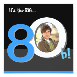 80th Big 8Oh! Photo Template Birthday Party
