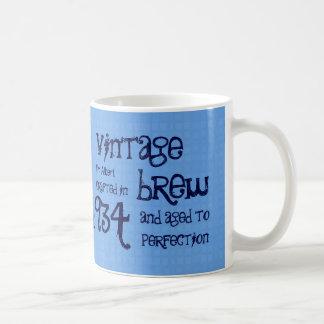 80th Birthday 1934 Vintage Brew or Any Year V80B Coffee Mug