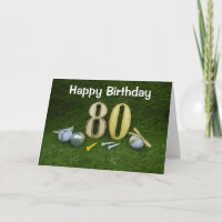80th Birthday Anniversary to golfer with golf ball Card