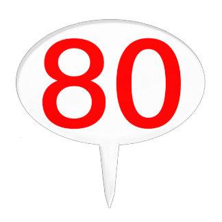 80th Birthday cake topper | Customizable pick