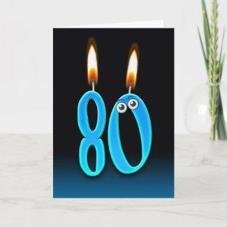 80th Birthday Candles Card