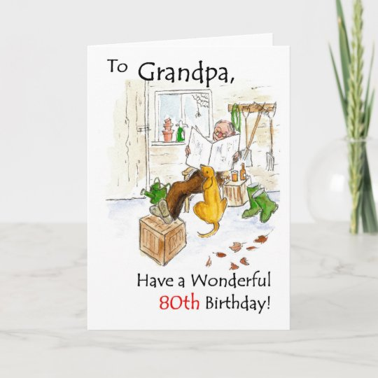 80th Birthday Card For A Grandfather Zazzle