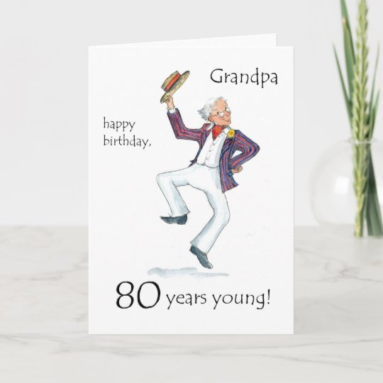 80th Birthday Card For A Grandfather