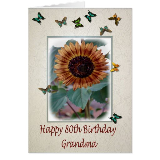 80th Birthday Card For Grandma
