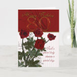 "80th Birthday Card With Roses<br><div class=""desc"">80th Birthday Card With Roses</div>"