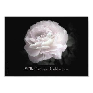 80th Birthday Celebration Invitation Pink Rose