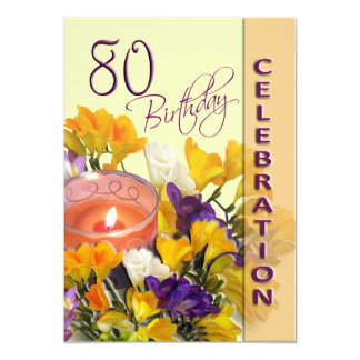 80th Birthday Celebration party invitation
