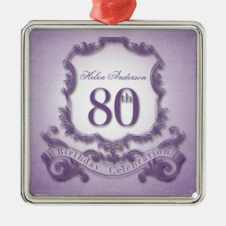 80th Birthday Celebration Personalized Ornament