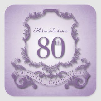 80th Birthday Celebration Personalized Stickers