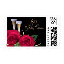 80th Birthday Celebration Postage Stamps