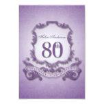 "80th Birthday Celebration Vintage Frame -2- 3.5"" X 5"" Invitation Card"
