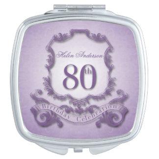 80th Birthday Celebration Vintage Frame Custom Vanity Mirror