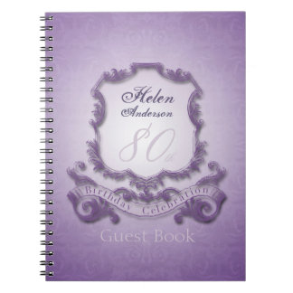 80th Birthday Celebration Vintage Frame Guest Book