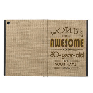 80th Birthday Celebration World Best Fabulous iPad Air Cover