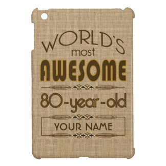 80th Birthday Celebration World Best Fabulous iPad Mini Covers