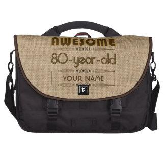 80th Birthday Celebration World Best Fabulous Laptop Computer Bag