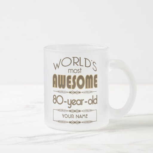 80th Birthday Celebration World Best Fabulous Coffee Mug