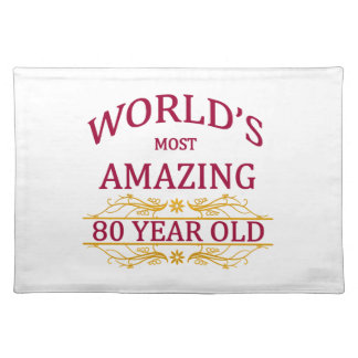 80th. Birthday Cloth Placemat