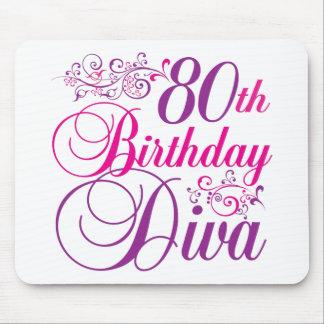 80th Birthday Diva Mouse Pad