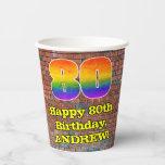 [ Thumbnail: 80th Birthday: Fun Graffiti-Inspired Rainbow 80 ]