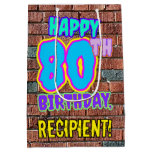 [ Thumbnail: 80th Birthday: Fun, Urban Graffiti Inspired Look Gift Bag ]