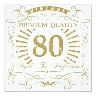 80th Birthday Gag Gift Card