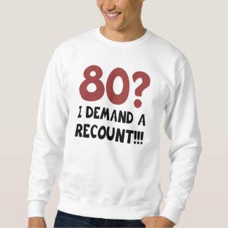 80th Birthday Gag Gift Sweatshirt