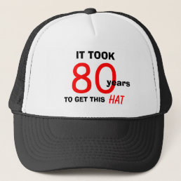 80th Birthday Gag Gifts Hat for Men
