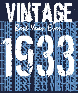 80th Birthday Gift 1933 Or ANY YEAR Vintage V01 T Shirt