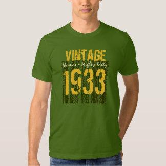 80th Birthday Gift Best 1933 Vintage Tee Shirt