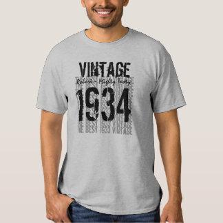 80th Birthday Gift Best 1934 Vintage V01 T-shirts