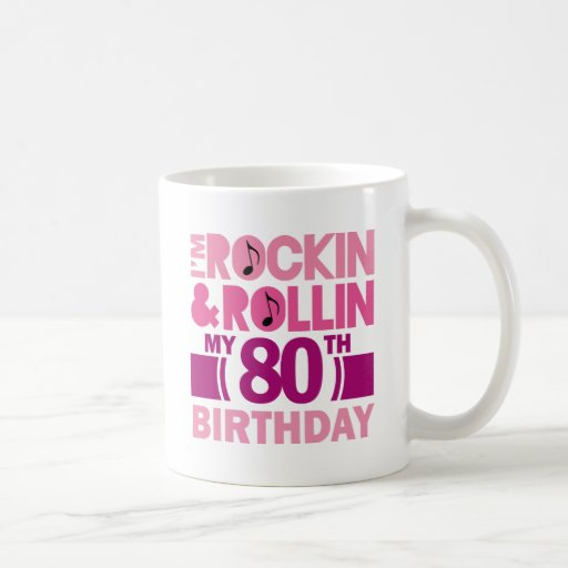 80th Birthday Gift Idea For Female Coffee Mugs