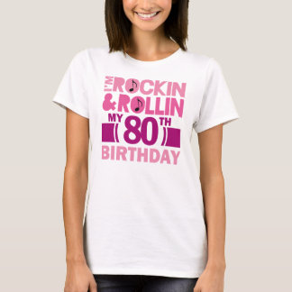80th Birthday Gift Idea For Female T-Shirt